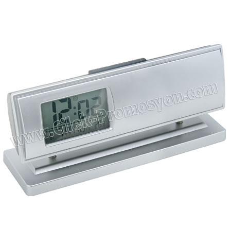 Ucuz Promosyon Masa Saati Termometreli Takvimli GMS202