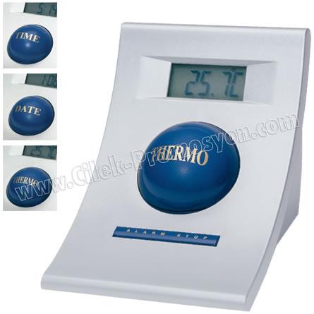 Ucuz Promosyon Masa Saati Termometreli Takvimli GMS230
