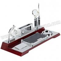 Ucuz Promosyon Masa Seti - Ahşap - Termometreli AMS12238