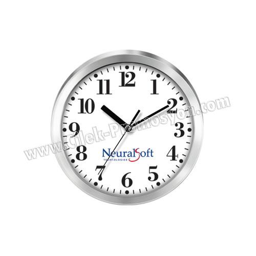 Ucuz Promosyon Metal Duvar Saati 20 Cm Çelik AS20105-20