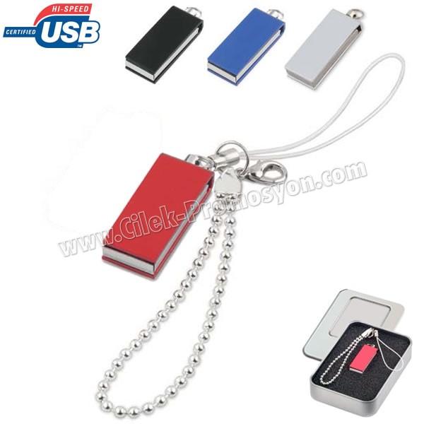 Ucuz Promosyon Metal Flash Bellek 16 GB - Bileklikli AFB3275-16