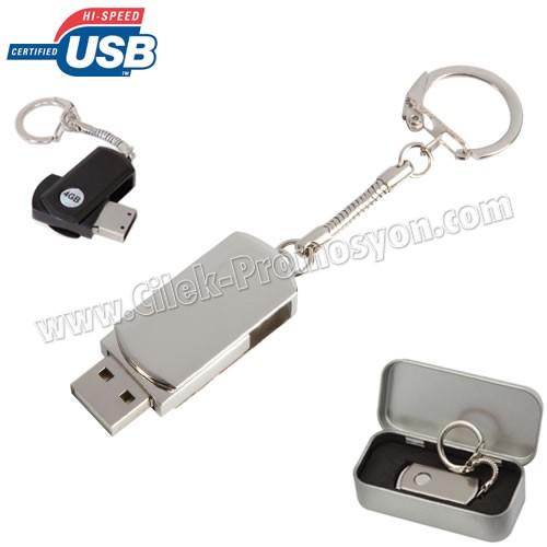 Ucuz Promosyon Metal Flash Bellek 32 GB - Anahtarlıklı AFB3305-32