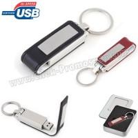 Ucuz Promosyon Metal Flash Bellek 8 GB - Deri Koruyuculu AFB3293-8