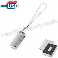 Ucuz Promosyon Metal Flash Bellek 8 GB - Bileklikli AFB3307-8