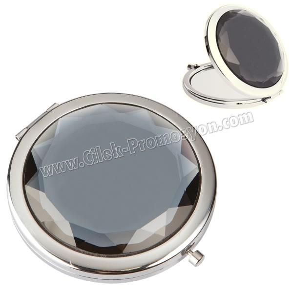 Ucuz Promosyon Metal Makyaj Aynası Büyüteçli AAM10142