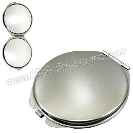 Metal Çanta Aynası Büyüteçli GBU969 - Ücretsiz Baskı ve Ücretsiz Kargo