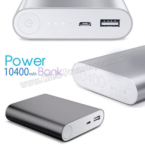 Ucuz Promosyon PowerBank 10400 mAh - Metal APB3767