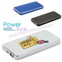 Baskılı Powerbank 4000 mAh - Metal APB3757