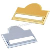 Ucuz Promosyon Metal Yaka İsimliği - Altın ve Gümüş AMG13202