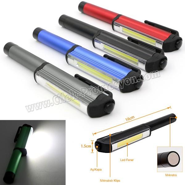 Ucuz Promosyon Mıknatıslı El Feneri - Metal & Magnetli  ACF7073