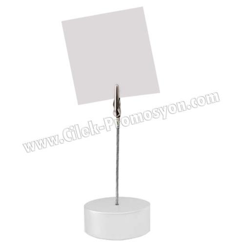 Ucuz Promosyon Not Tutucu Akrilik Gümüş Renk AMG422