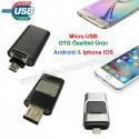 Toptan Ucuz Promosyon OTG Flash Bellek 16 GB - Android ve IOS Iphone OTG Özellikli AFB3257