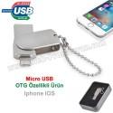 Toptan Ucuz Promosyon OTG Flash Bellek 16 GB - IOS Iphone OTG Özellikli - Metal AFB3253