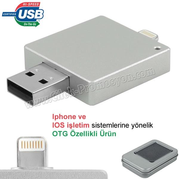 Ucuz Promosyon OTG Flash Bellek 16 GB - Iphone Ios Sürücülü AFB3311