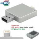 Toptan Ucuz Promosyon OTG Flash Bellek 16 GB - Iphone Ios Sürücülü AFB3311