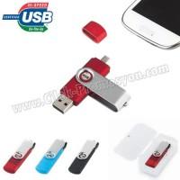 Ucuz Promosyon OTG Flash Bellek 16 GB - OTG Özellikli - Metal Koruyuculu AFB3297-16