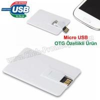 Ucuz Promosyon OTG Flash Bellek 8 GB - Kredi Kartı Formunda AFB3256