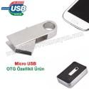 Toptan Ucuz Promosyon OTG Flash Bellek 8 GB - OTG Özellikli - Metal AFB3252