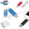 Toptan Ucuz Promosyon OTG Flash Bellek 8 GB - OTG Özellikli - Metal AFB3296-8