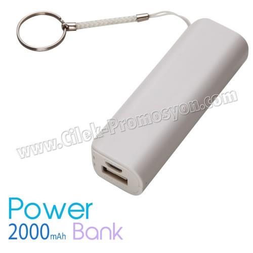 Promosyon Taşınabilir Şarj Cihazı 2000 mAh - Anahtarlıklı APB3772 - Ücretsiz Baskı ve Ücretsiz Kargo