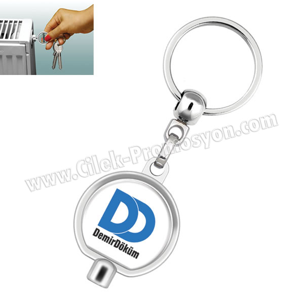 Ucuz Promosyon Purjör Anahtarı Anahtarlık Metal Oval Tek Taraflı AA1561-O