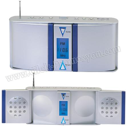 Ucuz Promosyon Radyo Işıklı Ekranlı Ekranda Frekans Gösterir GRD156
