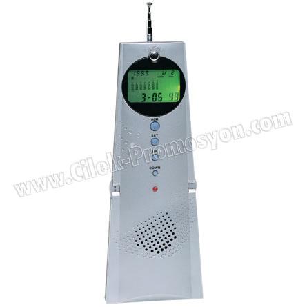 Ucuz Promosyon Radyo Işıklı Ekranlı Termometreli ve Takvimli GRD150