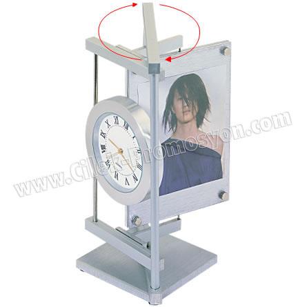 Ucuz Promosyon Masa Saati Resim Çerçeveli - Metal GMS252