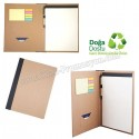 Toptan Ucuz Promosyon Sekreter Bloknot A4 - Geri Dönüşümlü - Kalemli ve Renkli Yapışkan Notluklu ABC8318