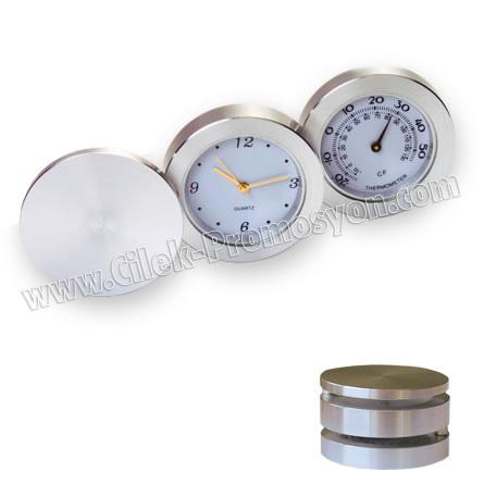 Ucuz Promosyon Seyahat - Masa Saati Termometreli GMS268