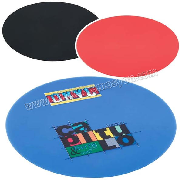 Ucuz Promosyon Silikon Mouse Pad - Yuvarlak ABA4119