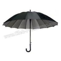 Ucuz Promosyon Siyah Baston Şemsiye 16 Telli AD25004