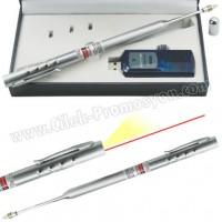 Ucuz Promosyon Sunum Kalemi Lazer Pointer ve Led Fener GBA3106