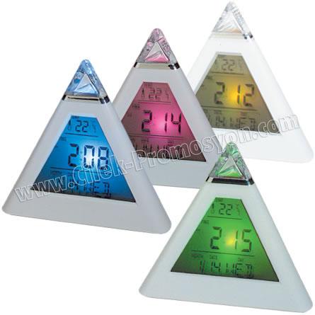 Ucuz Promosyon Termometreli Renk Değiştiren Masa Saati GMS241