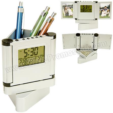 Ucuz Promosyon Ucuz Kalemlik Saatli Resim Çerçeveli Termometreli GMG455