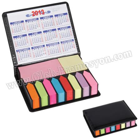 Ucuz Promosyon Yapışkan Notluk Seti 10 Renk Takvimli GMG4041