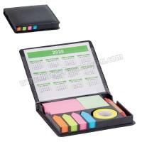 Ucuz Promosyon Yapışkan Notluk Seti 6 Renk Takvimli ve Kalemli AMG13208